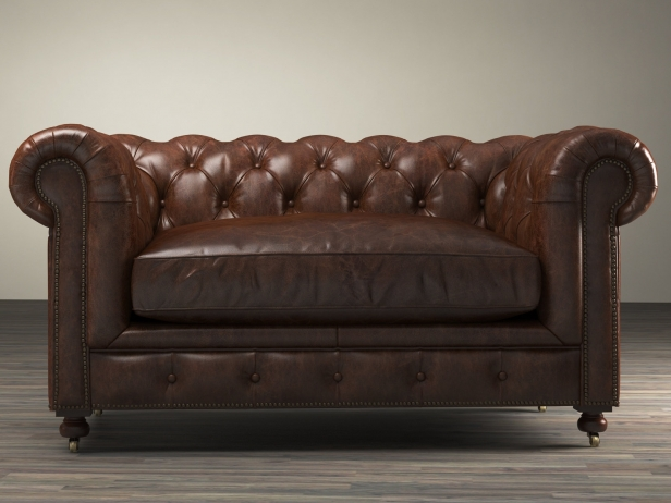 "60"" Kensington Leather Sofa 6"