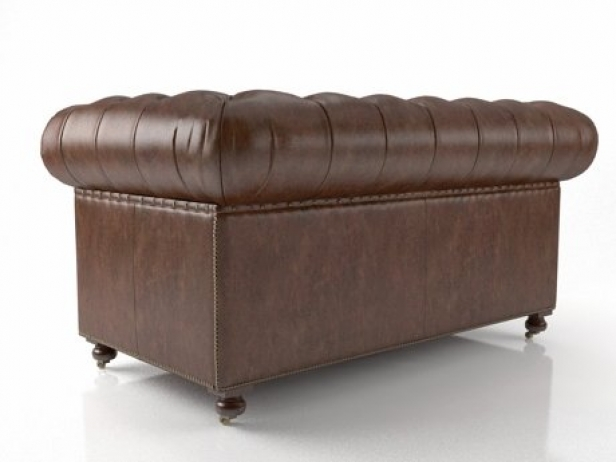 "60"" Kensington Leather Sofa 10"