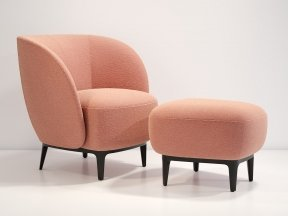 Soufflot Armchair with Footstool