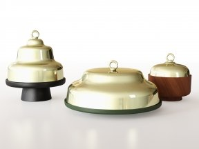 INCIPIT Belle Cake Stands with Cloche Dome