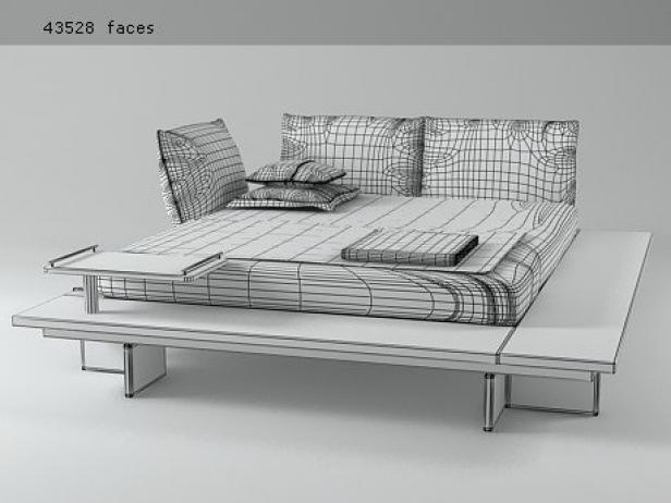 Maly Bed 3d Model Ligne Roset
