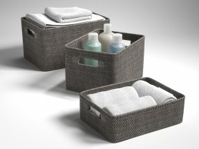 CRATE & BARREL Sedona Grey Totes