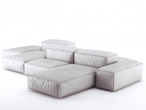 Living Divani Extra Soft.Extrasoft Sofa System 3d Model Living Divani Italy