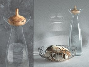GEORG JENSEN Bread Basket and Carafe