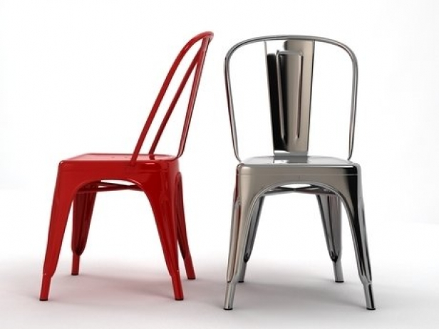 A chair 3d model tolix steel design for Metal design chair