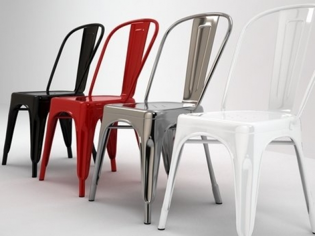 A Chair 3d Model Tolix Steel Design France