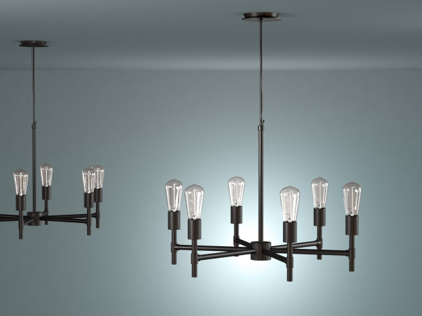 Industrial Chandelier 3d Model West Elm