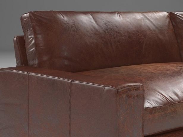 10u0027 Maxwell Leather Sofa 8