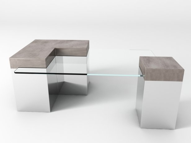 Chrome Coffee Table 2