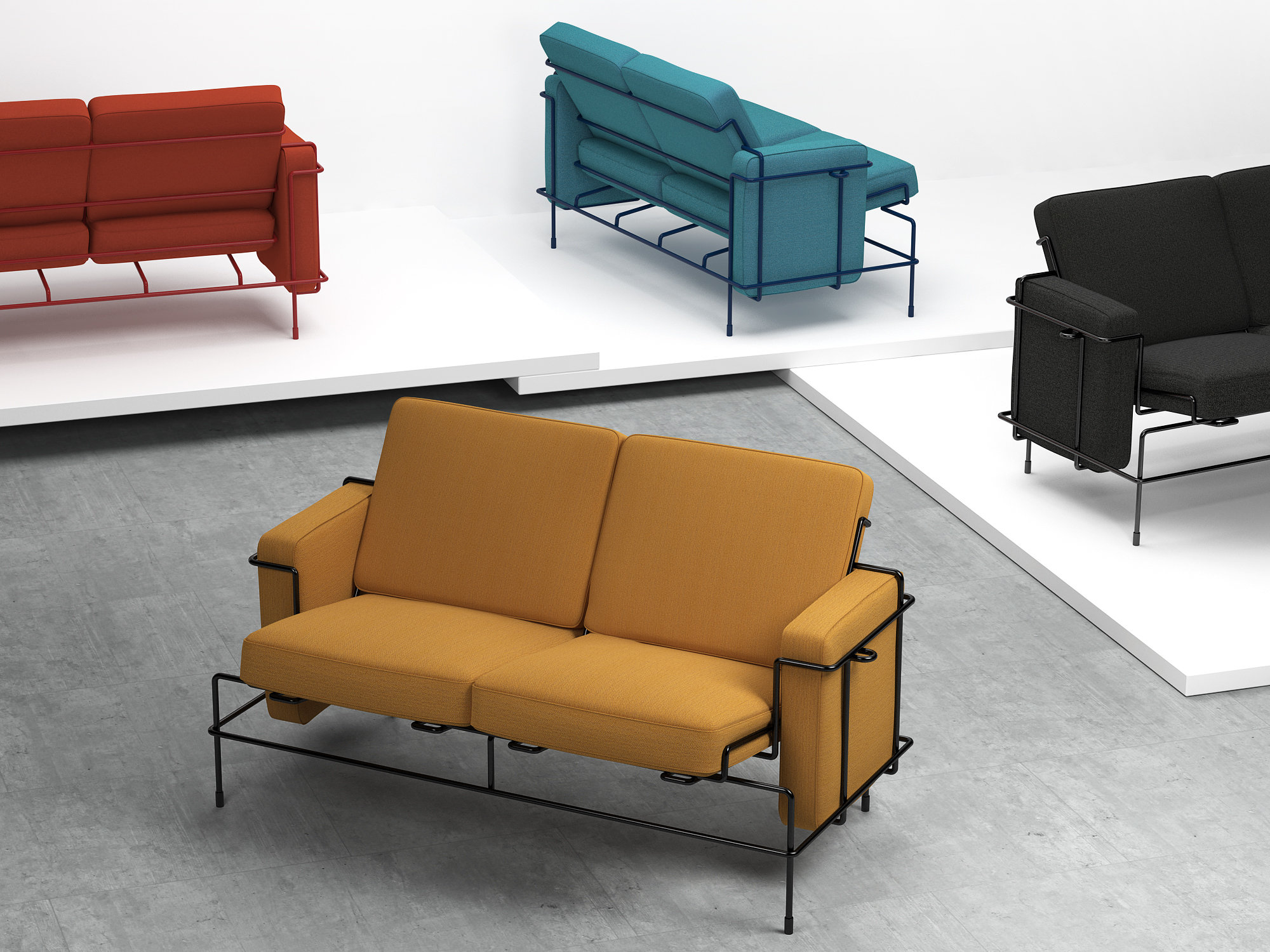 Traffic sofa 3d model magis for Magis traffic