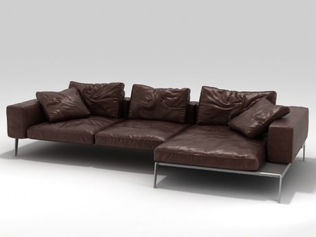 lifesteel sofa 02 3d model flexform. Black Bedroom Furniture Sets. Home Design Ideas