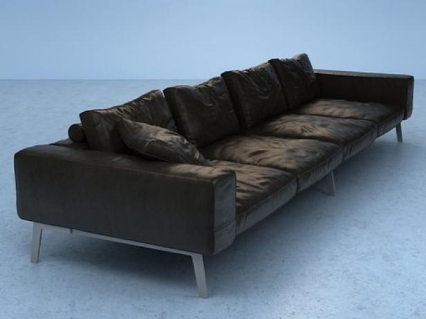 lifesteel sofa 355 3d model flexform. Black Bedroom Furniture Sets. Home Design Ideas