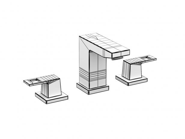 Cube Countertop Basin 80 Set 14