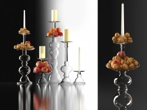 Addison Glass Candle Holders