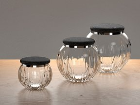 Round Jars with Shagreen Lids