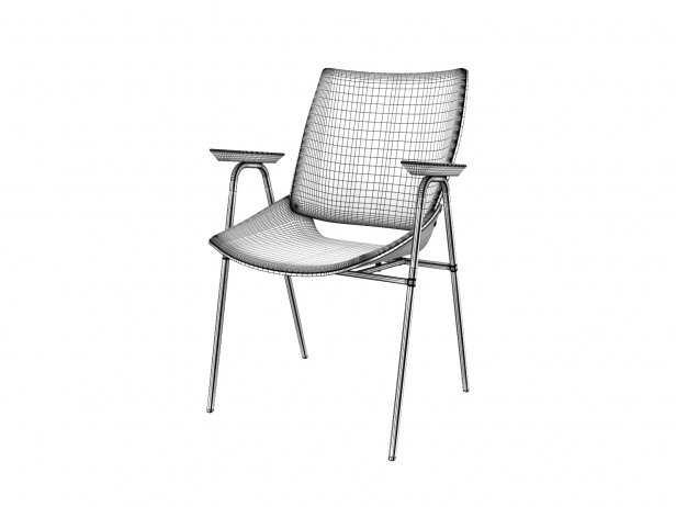 Shell Armchair with Seat & Back Cushions 4