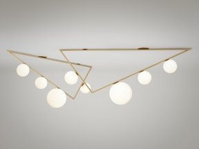 Triangle 3+1 Globes Ceiling Lamp