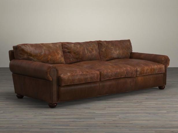 "96"" Lancaster Leather Sofa 3d Model"