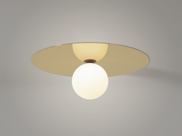 Plate and Sphere Ceiling Lamp 1