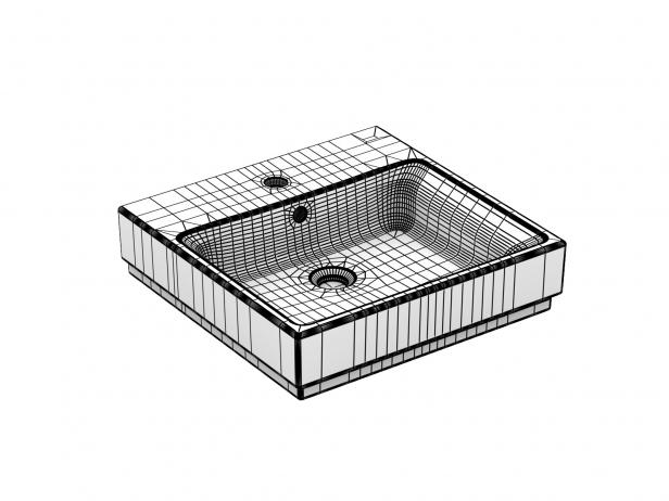 Cube Countertop Basin 50 Set 6