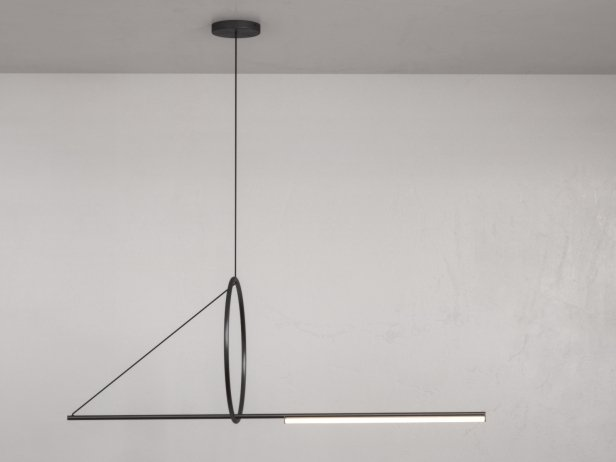 Cercle et Trat Suspension Lamp 1
