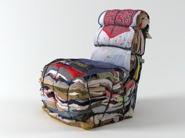 Rag Chair 3d Model Droog Netherlands