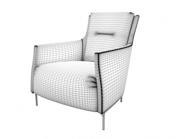 Riga Armchair Low Back New Base 5