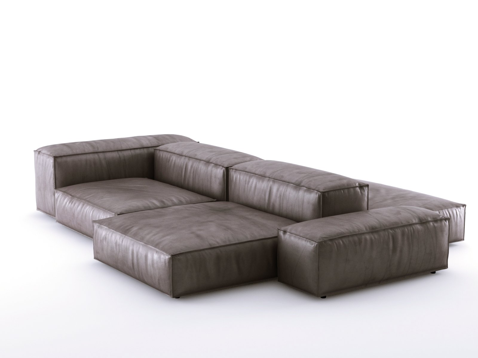 extrasoft sofa system 3d model living divani. Black Bedroom Furniture Sets. Home Design Ideas