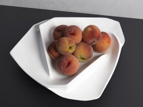 Ceramic Bowl of Peaches