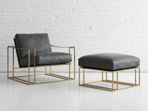 Sling Chair & Ottoman 1