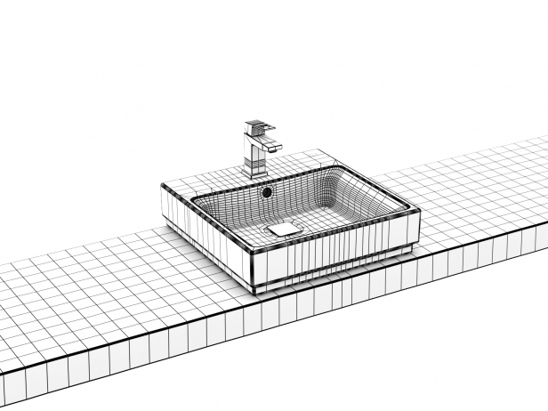 Cube Countertop Basin 50 Set 10