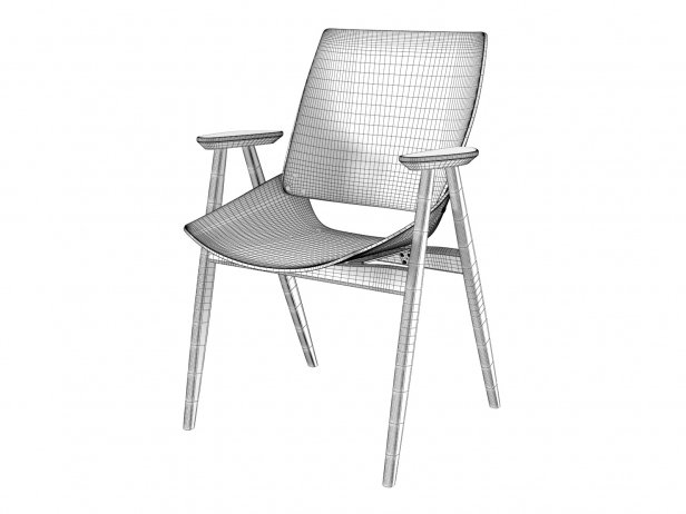 Shell Wood Armchair 3