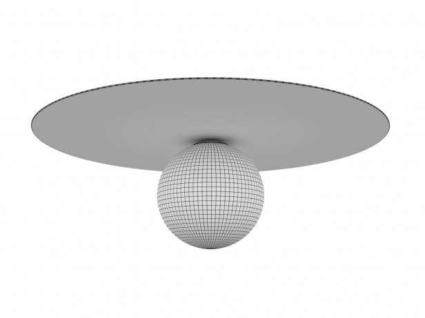 Plate and Sphere Ceiling Lamp 4