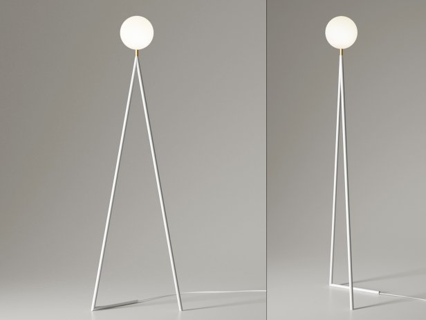 One Globe-One Cone Floor Lamp 2