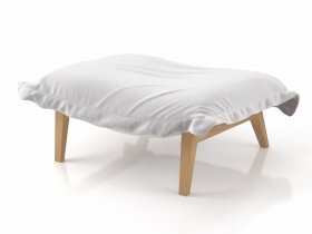 Calin Footstool S Solid Wood