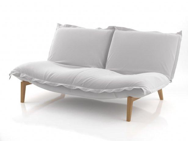 calin loveseat solid wood 3d model ligne roset. Black Bedroom Furniture Sets. Home Design Ideas