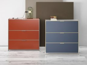Dita Desk with Flap Door and drawers