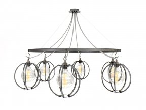 Farrier's Cage Six Circle Globe Chandelier