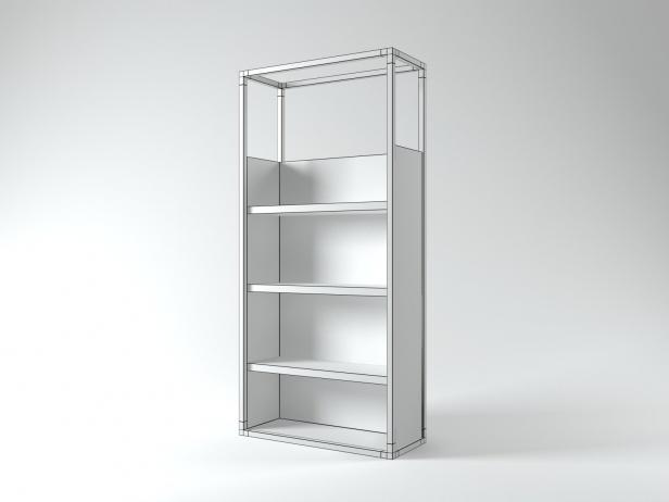 dedicato shelving 3d model ligne roset. Black Bedroom Furniture Sets. Home Design Ideas