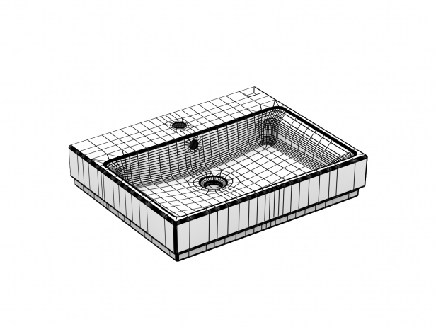 Cube Countertop Basin 60 Set 16