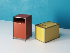 Dita Bedside Cabinet with Flap door