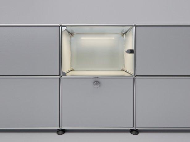 Filum USM Pendant Light and Illuminated Cabinet 2