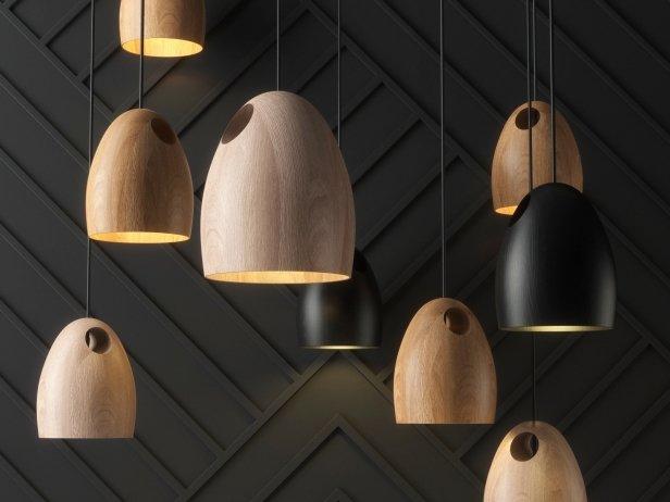 Oak Pendant Light 2