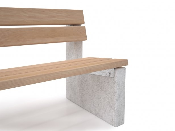 Maro Outdoor Bench with Backrest 4