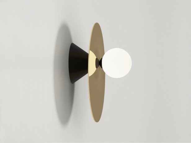 Disc and Sphere Asymmetric Wall Lamp 1