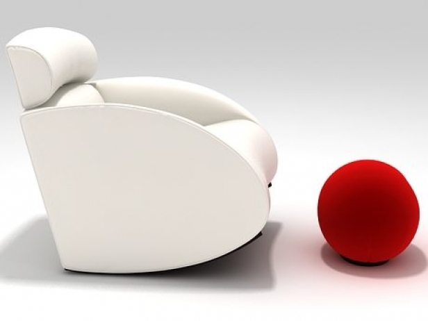 Mama Armchair and Tatino Footstool 1 & Mama Armchair and Tatino Footstool 3d model | Baleri Italia