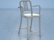 Navy Counter Stool With Arms 2