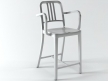 Navy Counter Stool With Arms 1