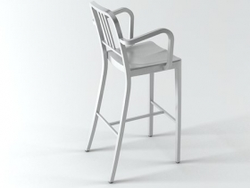 Navy Barstool With Arms