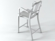 Navy Counter Stool With Arms 3